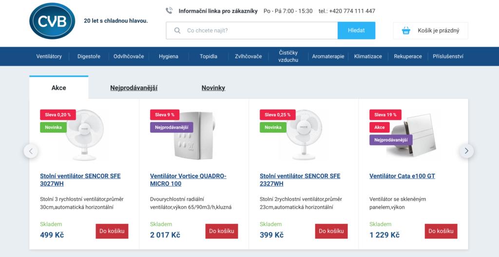 e-shop na míru pro cvb