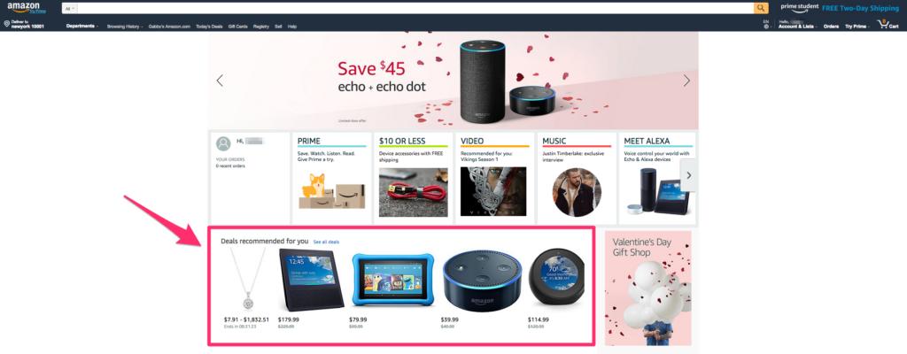 personalizovaná domovská stránka je důležitá pro zvyšování zisku e-shopu.