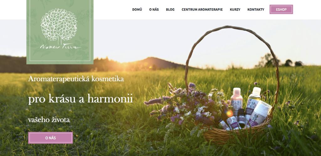 Nobilis Thilia a domovská stránka od Inspirum Technologies