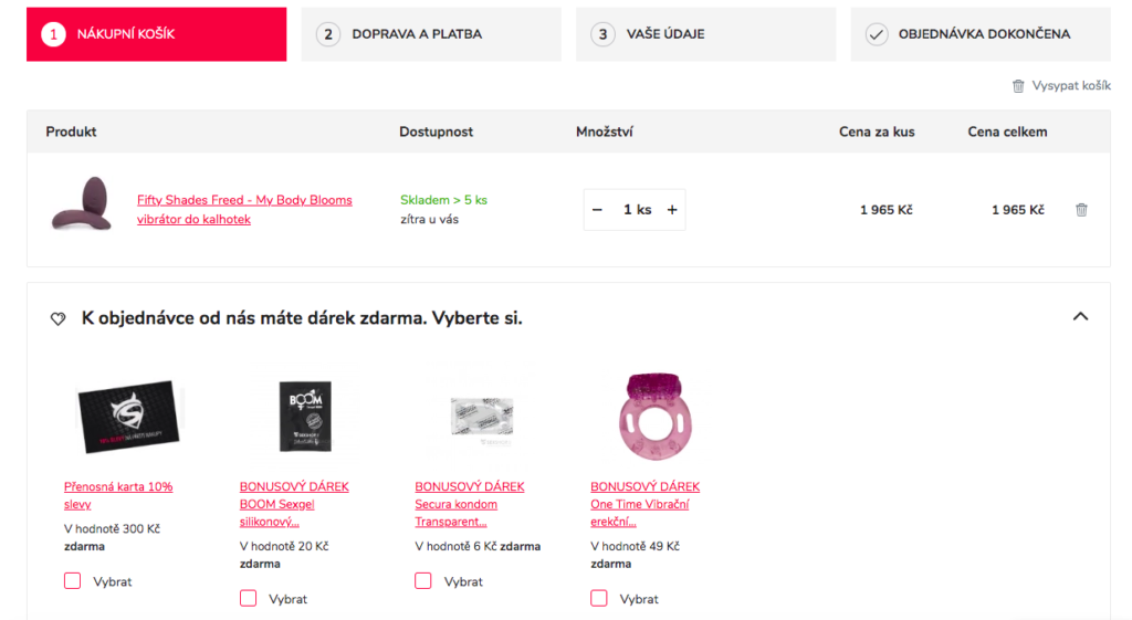 dárky k produktům na sexshop.cz od Inspishop